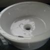 Lavatorio de apoyo de loza blanca conica gruesa