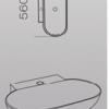 Lavatorio de apoyo de loza blanca ovalada monocomando
